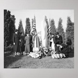 Memorial de Arlington às enfermeiras 1938 Posters