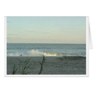 Memórias da praia cartão comemorativo