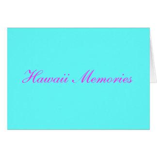 memórias de Havaí Cartão Comemorativo