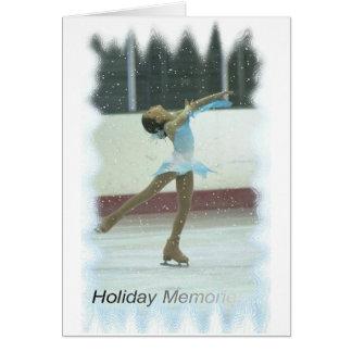 Memórias de patinagem cartão comemorativo