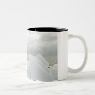Memórias do inverno caneca de café em dois tons