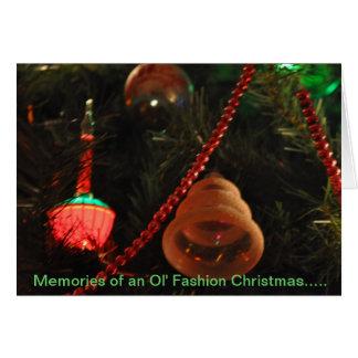 Memórias do Natal da forma de Ol Cartão Comemorativo
