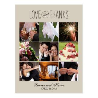 Memórias doces que Wedding cartões de agradeciment Cartão Postal