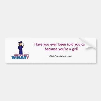 Menina da graduação no vestido azul adesivo para carro