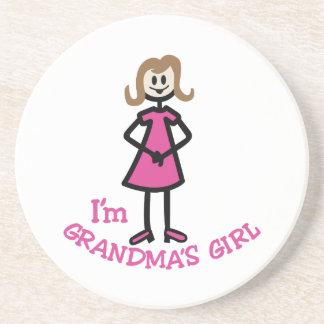 Menina das avós porta copos de arenito