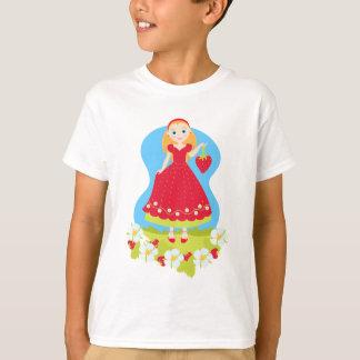 Menina de festa de aniversário da morango camiseta