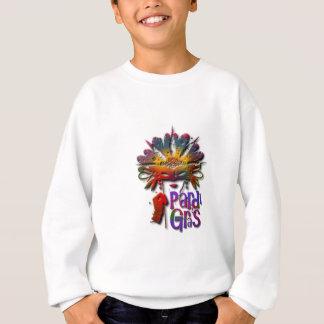 Menina de Pardi Gras demasiado T-shirt