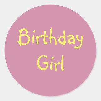 Menina do aniversário adesivo