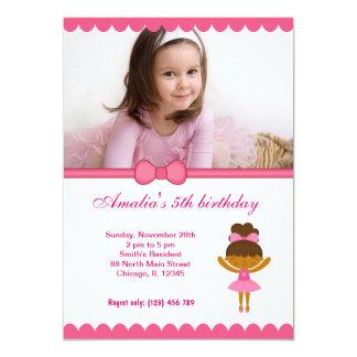 Menina do aniversário da bailarina convite