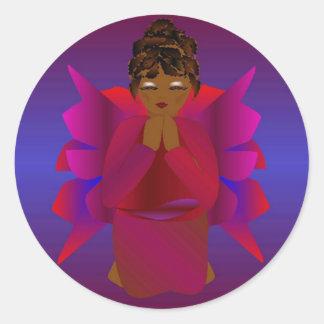 Menina do anjo adesivo