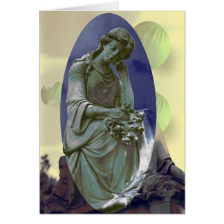 Menina do cemitério # 1 cartao