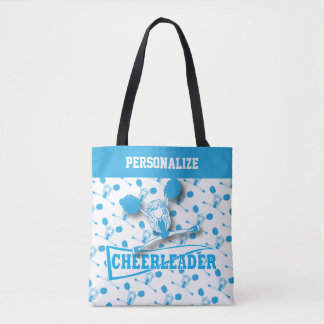 Menina do cheerleader dos azuis bebés bolsas tote