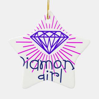 menina do diamante, gema que brilha ornamento de cerâmica
