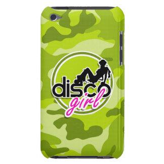 Menina do disco camo verde-claro camuflagem capa iPod touch