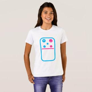 Menina do dominó da fruta da família camiseta