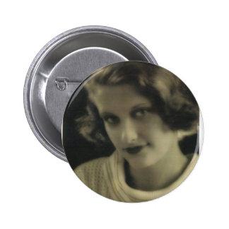 Menina do encanto da foto do vintage botons