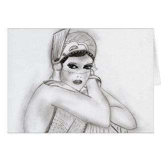Menina do Flapper Cartão Comemorativo