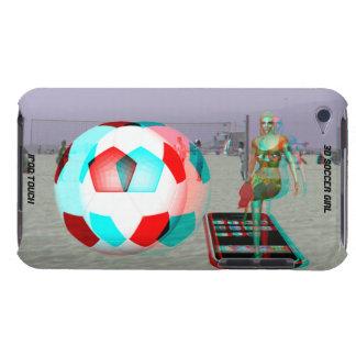 menina do futebol da case mate 3D do ipod touch Capa Para iPod Touch