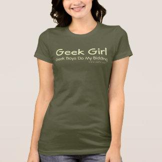 Menina do geek camiseta
