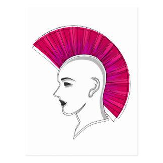Menina do Mohawk por Chillee Wilson Cartão Postal