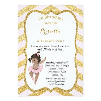 MENINA do primeiro aniversario, primeiro Convite 12.7 X 17.78cm