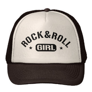 Menina do rock and roll boné
