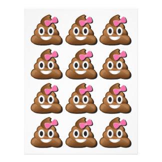 Menina do tombadilho de Emoji Papel Timbrado