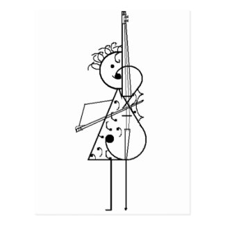 Menina do violoncelo cartão postal