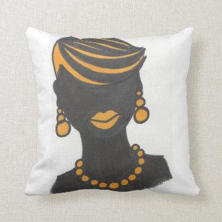 Menina dourada almofada
