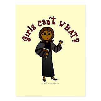 Menina escura do pastor cartão postal