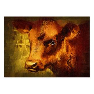 Menina Eyed Brown de Artcard ACEO Cartão De Visita
