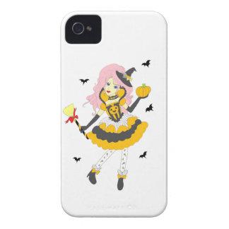 Menina feliz da abóbora do Dia das Bruxas Capas De iPhone 4 Case-Mate