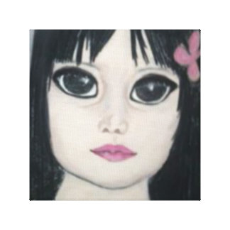 menina misteriosa com os olhos bonitos de
