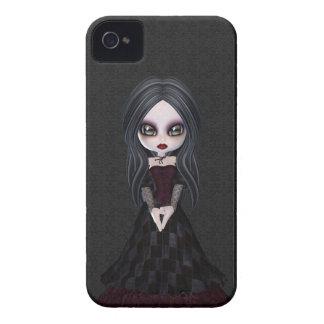 Menina pequena bonito & assustador Blackberry do Capas Para iPhone 4 Case-Mate