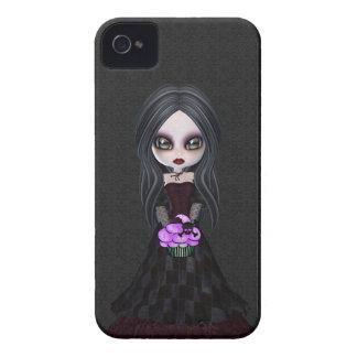 Menina pequena bonito & assustador Blackberry do g iPhone 4 Capas