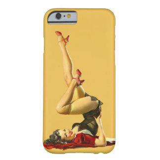 Menina retro do Pinup Capa Barely There Para iPhone 6