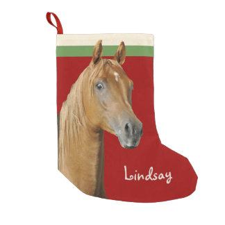 Meninas do vermelho do cavalo de Brown Bota De Natal Pequena