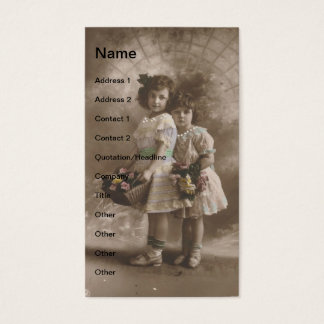 meninas do vintage cartão de visitas