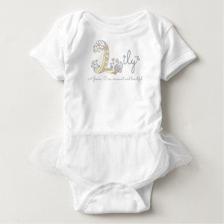 Meninas L de significado conhecido corações do Body Para Bebê