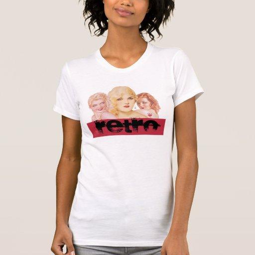 Meninas retros do Pinup Tshirt