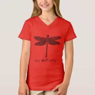 Meninas todas t-shirt natural da mosca do dragão
