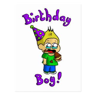 Menino 1 do aniversário cartão postal
