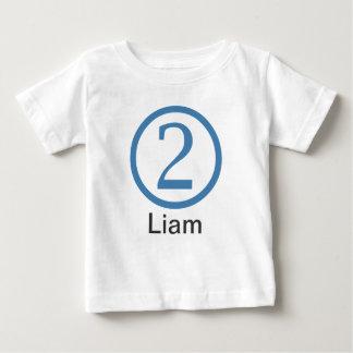 Menino customizável do t-shirt do segundo