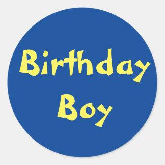 Menino do aniversário adesivo