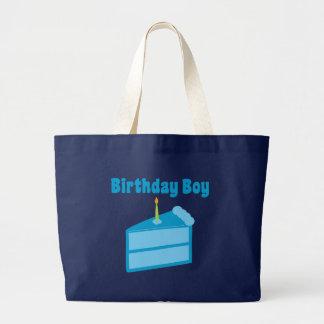 Menino do aniversário bolsas de lona