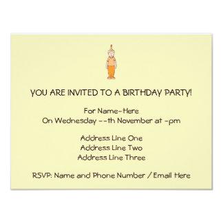 Menino do aniversário, na laranja convite 10.79 x 13.97cm