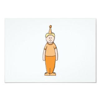 Menino do aniversário, na laranja convite 8.89 x 12.7cm