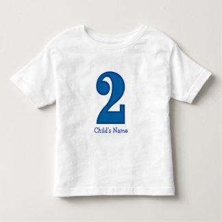 menino do número dois, o nome da criança camiseta infantil