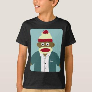 Menino feito sob encomenda do macaco da peúga do tshirt