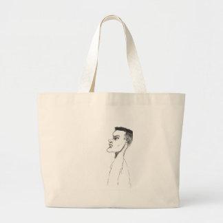 Menino novo bolsa para compras